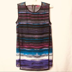 Vince Camuto Flowing Striped Sleeveless Blouse XS